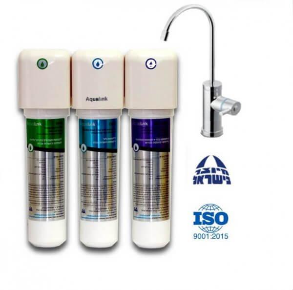 אקווה מאג - AquaMag מערכת טיהור מים 3 שלבים והוספת מגנזיום למים| מסנן מים